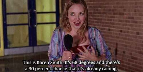 Thirty Percent Chance It's Raining