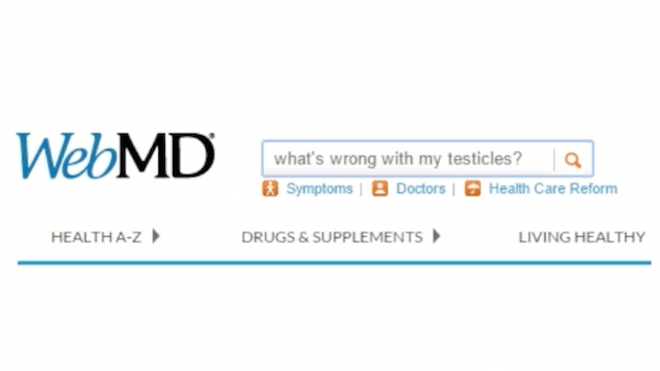 WebMD commercial parody testicles