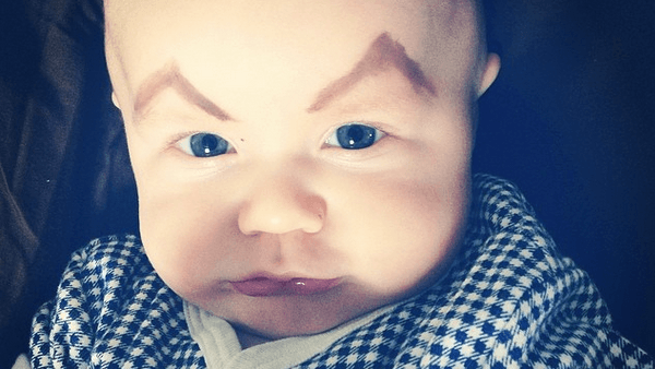 10 Pictures Of Babies With Eyebrows Drawn On