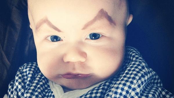 Angry Eyebrow Baby