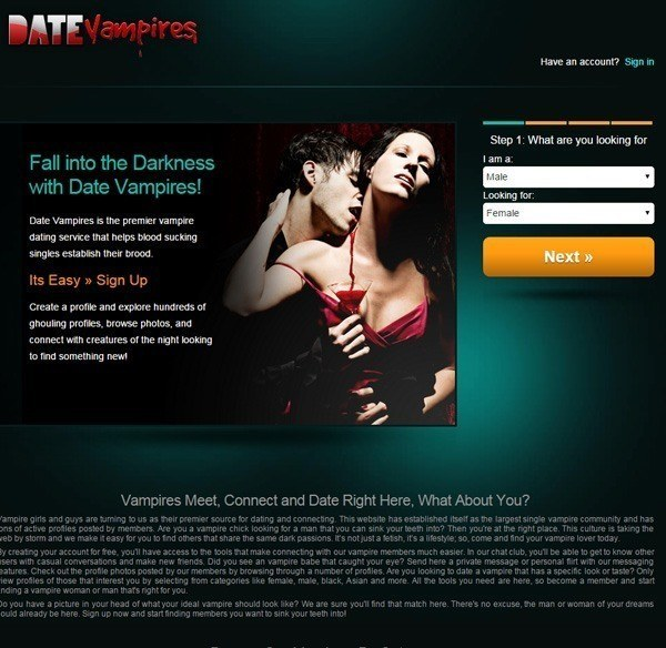 Bizarre Dating Sites Vampires