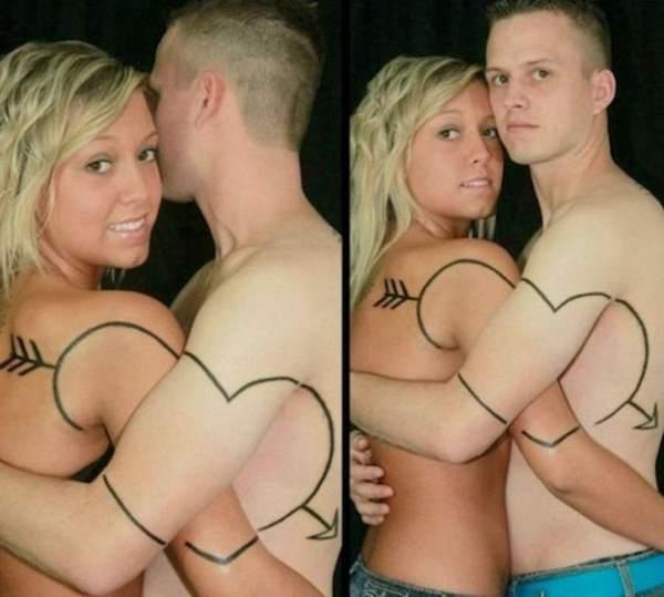 Couple Tattoo Fails
