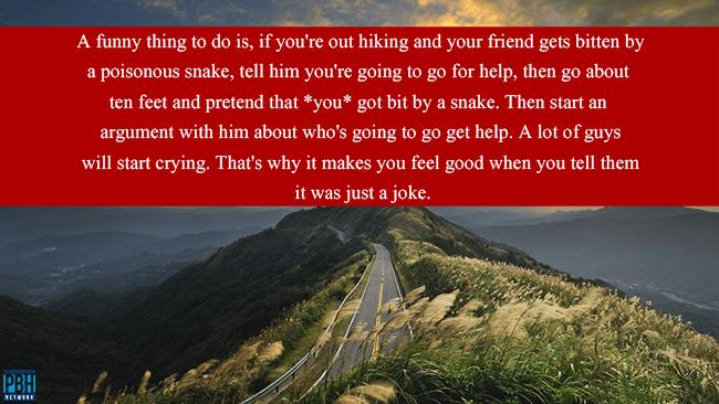 Hiking Prank
