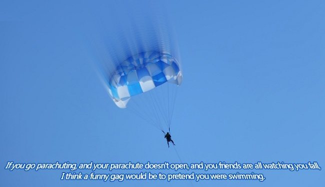 If You Go Parachuting