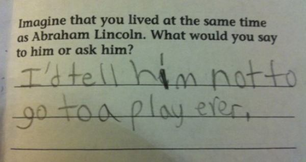 Lincoln Plays Kids Note