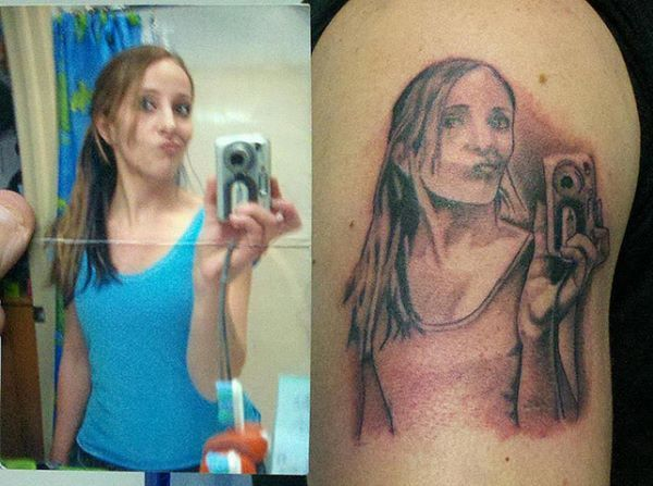 Selfie Tattoo Fail