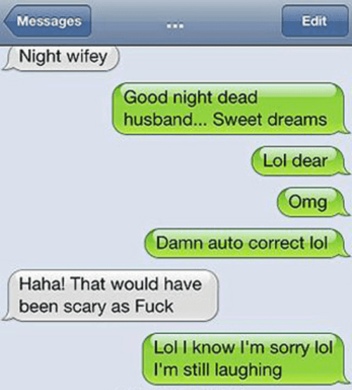 Autocorrect Fails Dead Husband