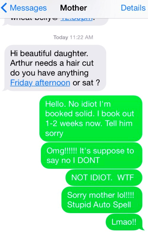 Autocorrect Fails Idiot Mother