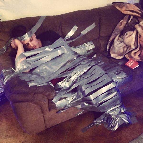 Funny Drunk Pictures Duct Taped