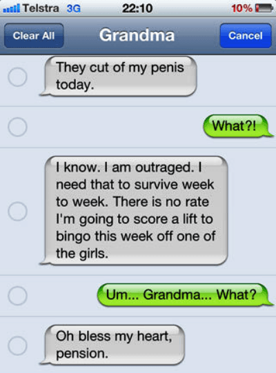Grandma Autocorrect Fail