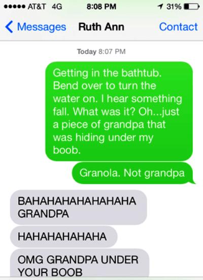 Grandpa Under Boob