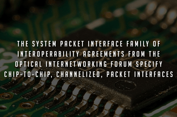System Packet Interface