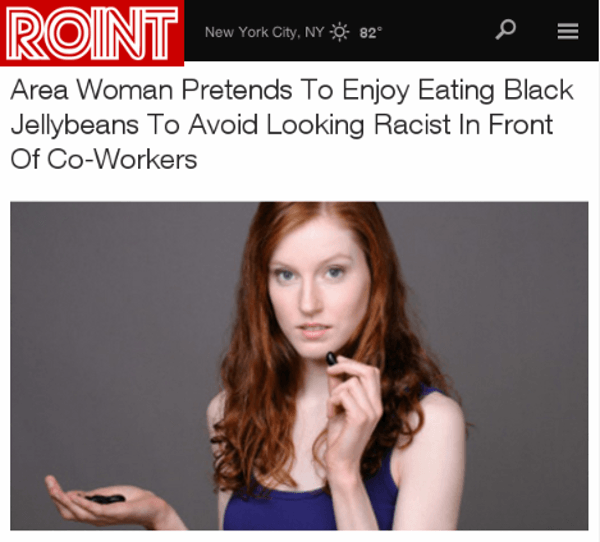 From Roint: Brave Woman Eats Jelly Beans