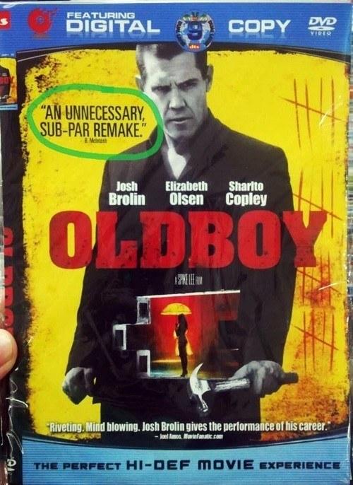 Bootleg DVDs Oldboy