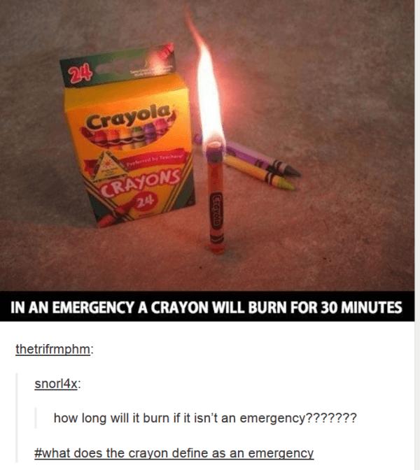 Crayon Emergencies