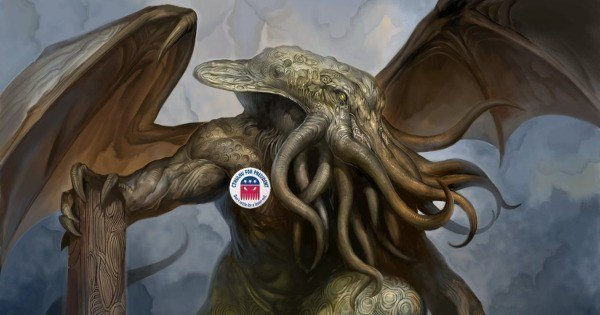 Cthulhu for President Realistic Drawing