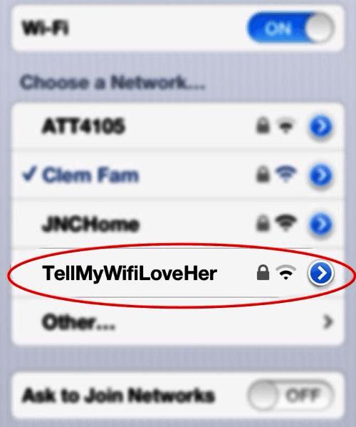 Funny Wifi Names Tell My Wifi