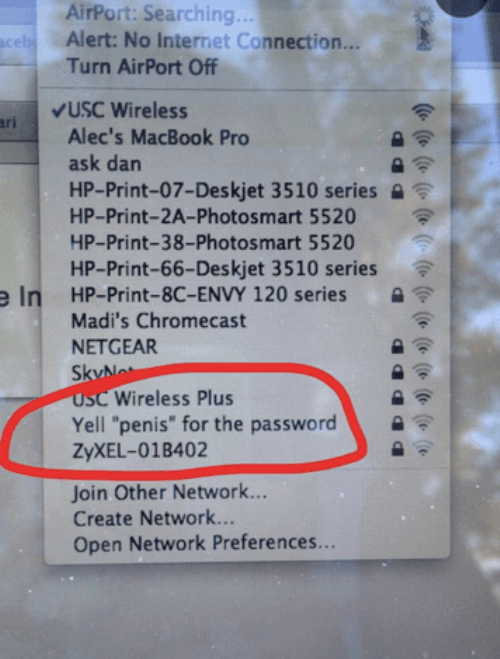 Funny Wifi Passwords