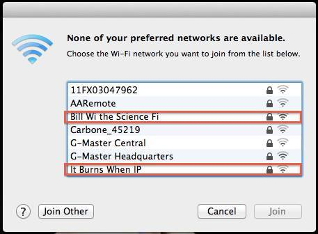 Funny Wireless Names