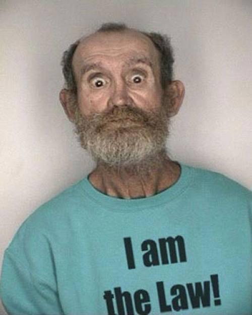 I'm The Law Funny Mugshot