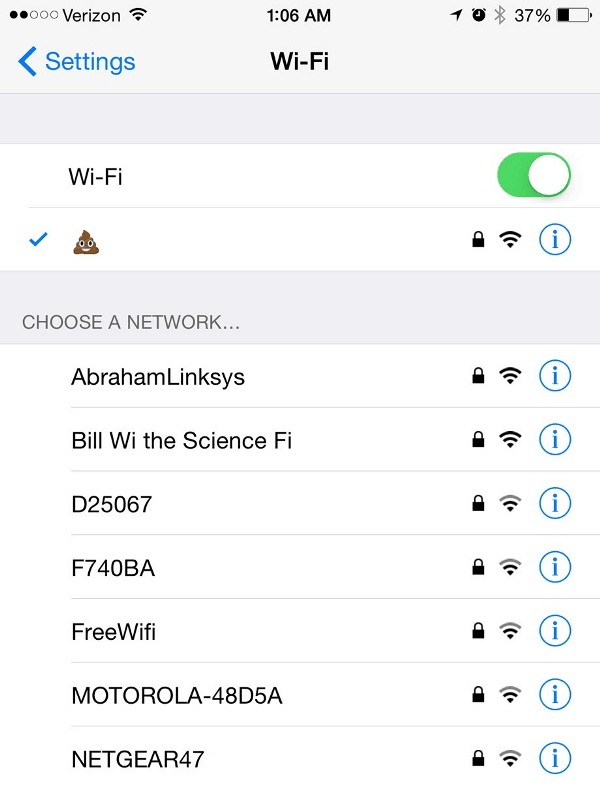 Poo Funniest Wifi Names Ever
