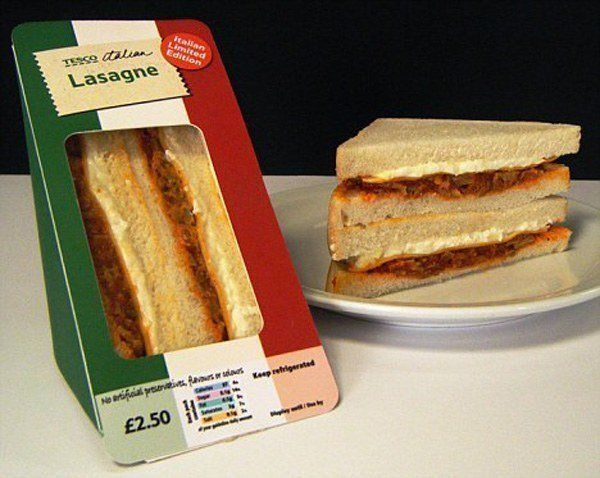 Tesco Lasagna Sandwich
