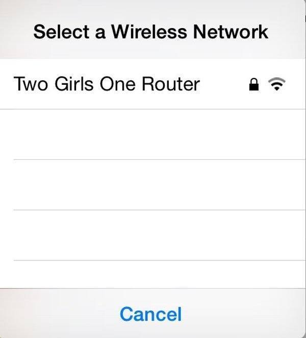 Two Girls One Router
