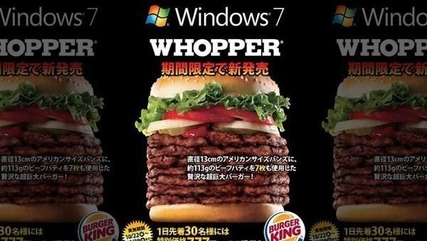 Weird Fast Food Windows 7 Whopper