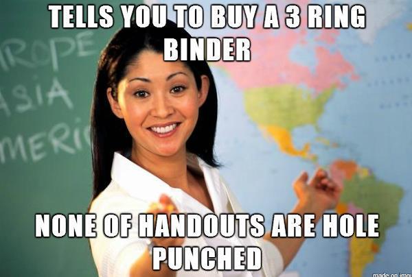 Bad Teacher Meme