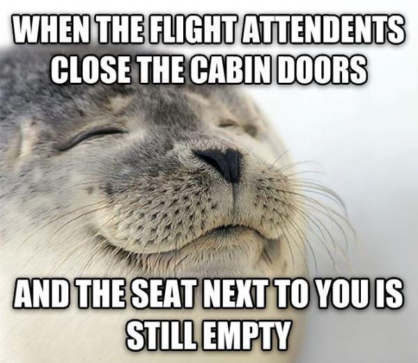 Empty Seat On Flight
