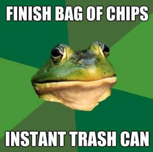 Foul Bachelor Frog Trash Can