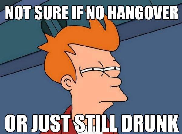 Futurama Fry Hangover Or Drunk