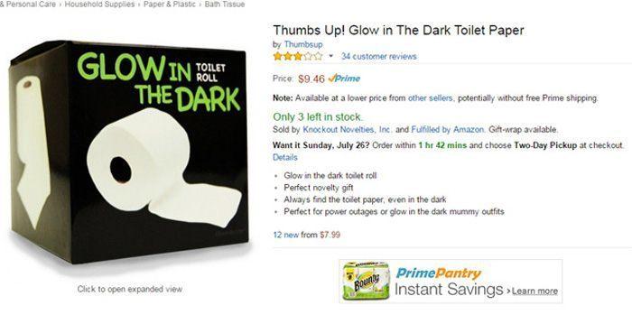 Glow Toilet Paper