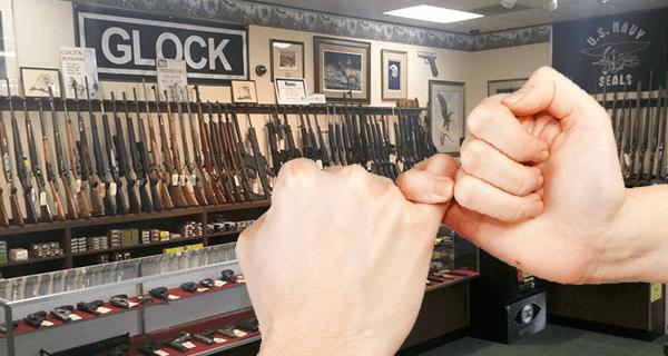 Gun Stores Pinky Swears