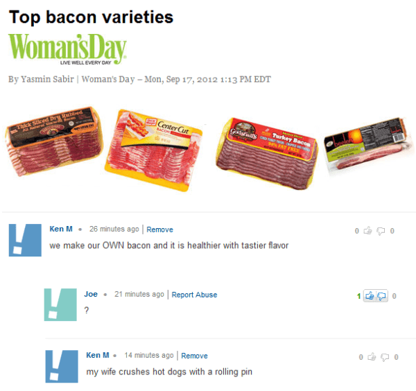 Ken M Life Hacks Bacon