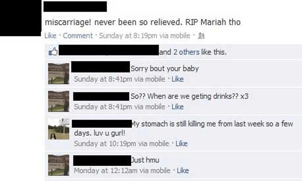 Miscarriage Facebook Tmi