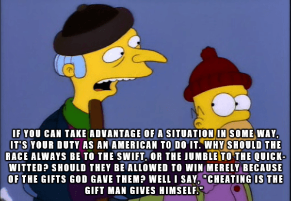 Mr Burns Quotes Cheating