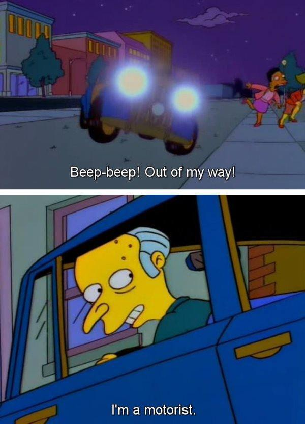 Mr Burns The Motorist
