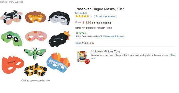 Passover Plague Masks