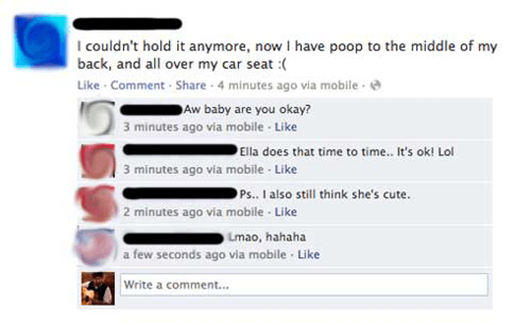 Poop Seat Facebook Tmi
