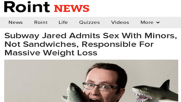 Roint News Subway Jared Og