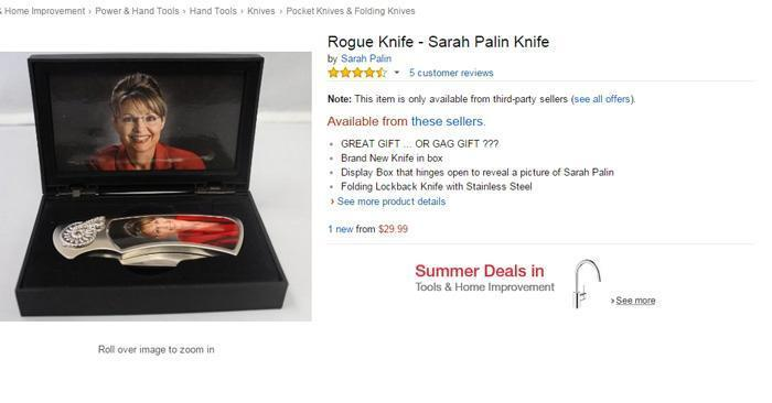 Sarah Palin Knife