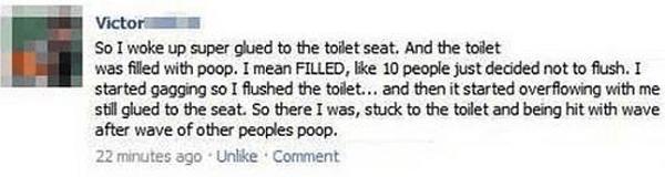 Superglued Toilet