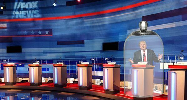 Trump Debate Glass Jar