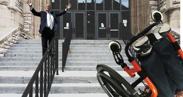 Trump Stairs Wheelchair
