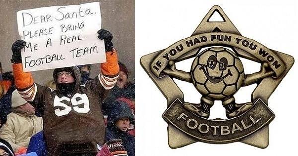 Cleveland Browns Participation Trophy