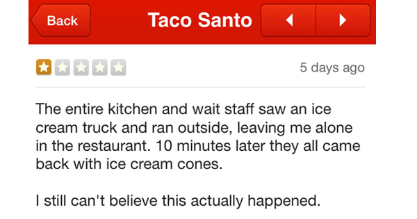 Funny Yelp Reviews