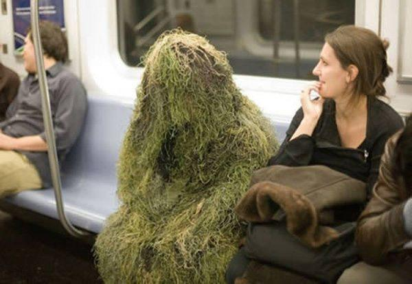 Gilly Suit Insane Transit Passengers