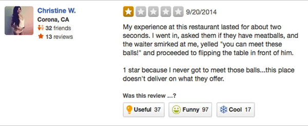 Meatballs Yelp Reviews