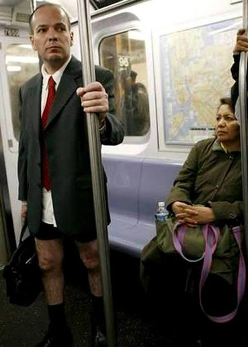No Pants Businessman